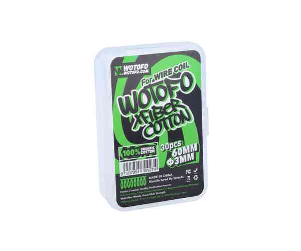 Wotofo Profile Xfiber Watte 3mm (30 Stück pro Packung) 20er Packung